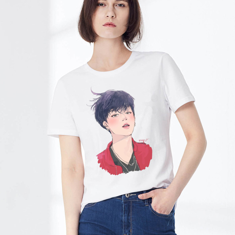 8fe70abe62cd K-pop BTS Illustration T-shirt (6 Designs) – Korean Fashion for you!