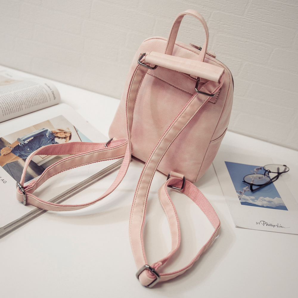 d4a9004f26c2 Girlish Mini PU Leather Backpack (3 Colors) – Korean Fashion for you!