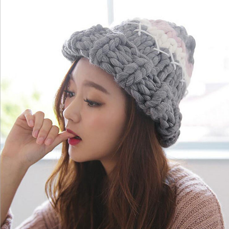4c39a9be2ad Knitted Chunky Wool Winter Hat (5 Designs) – Korean Fashion for you!